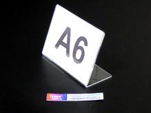 Ценникодержатель / Менюхолдер А-6, горизонтальный, односторонний, L-образный