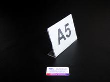 Ценникодержатель / Менюхолдер А5, горизонтальный, односторонний, L-образный